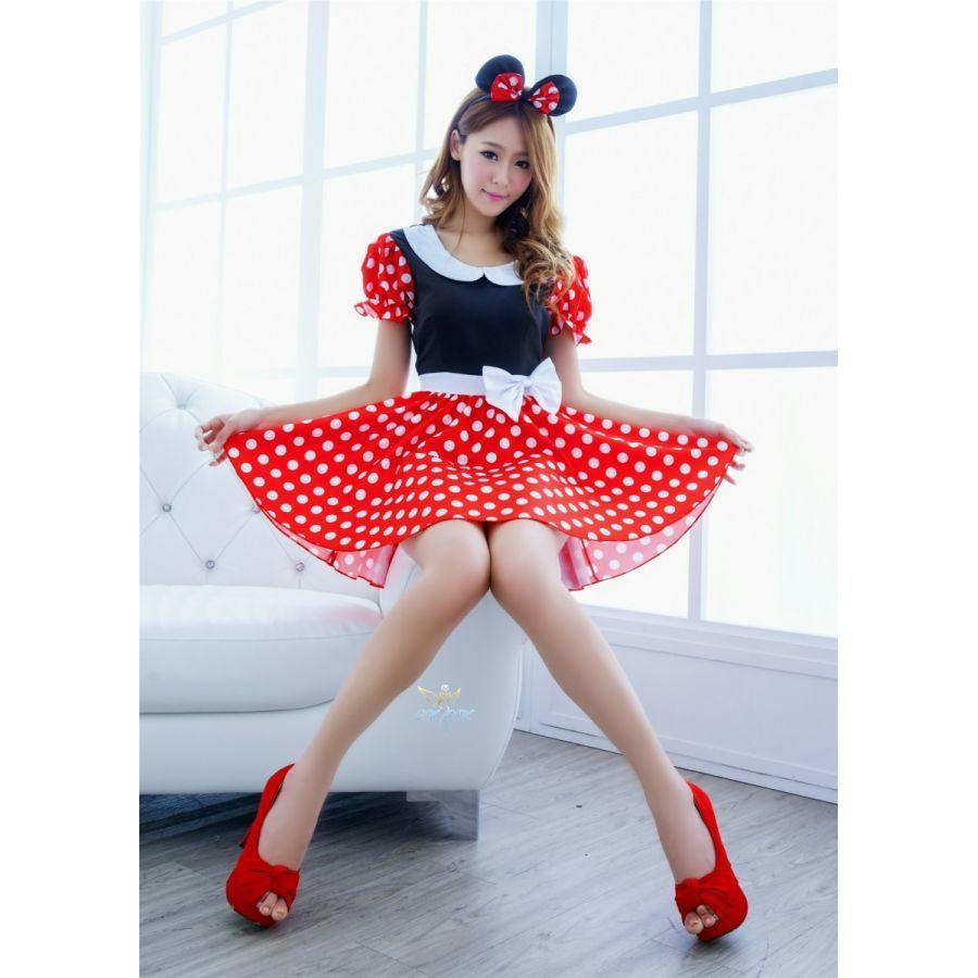06aa5aafe47 ディズニー ミニーマウス コスプレ 衣装 ミニー レディース ハロウィン コスチューム かわいい 仮装衣装 M L XL
