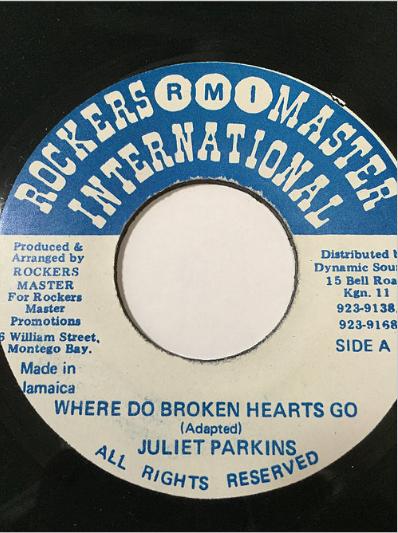 Juliet Parkins(ジュリエットパーキンス) - Where Do Broken Hearts Go【7'】