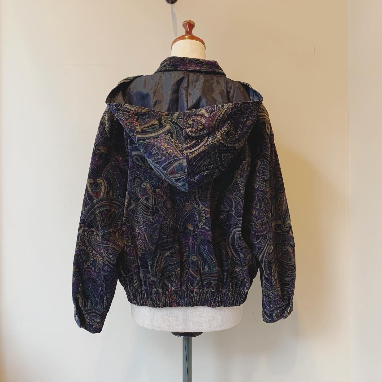 vintage paisley design hoodie blouson