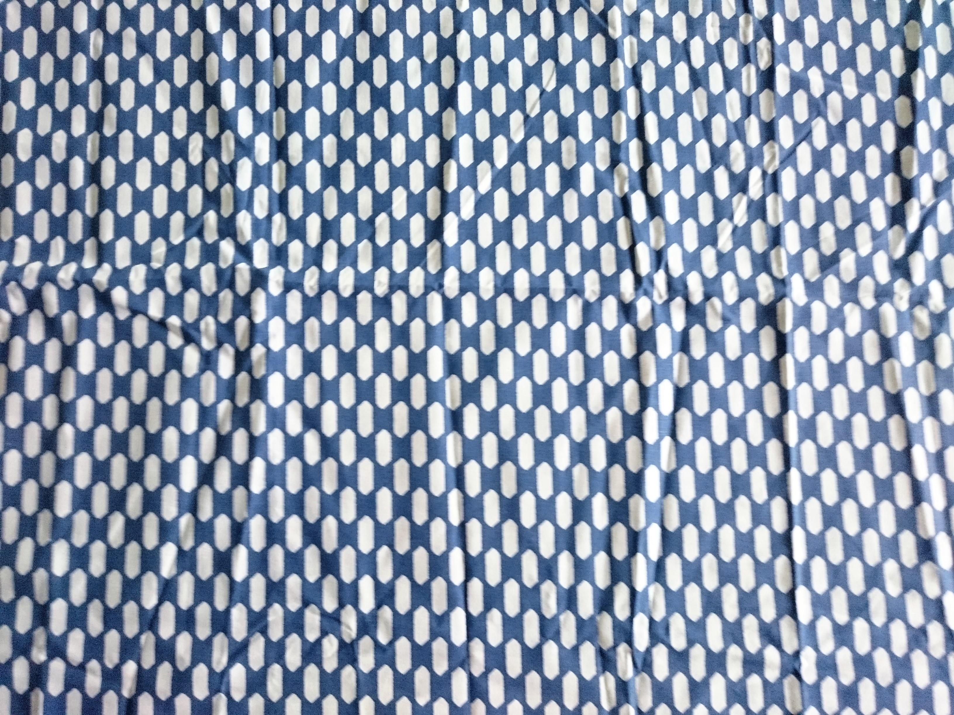[廃盤] テキスタイル / anno / Blue Hexagon コットン(1m)