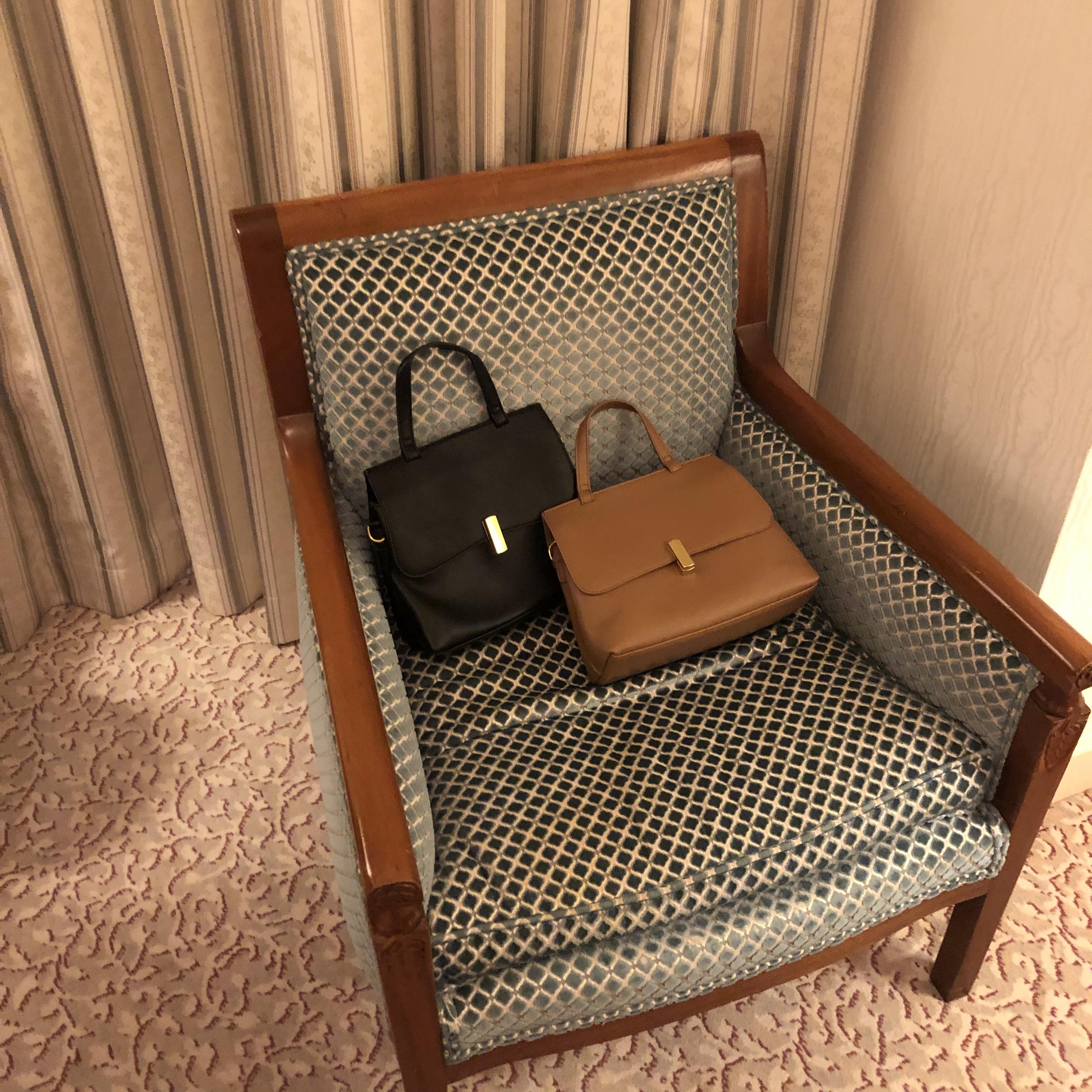 fake leather handbag