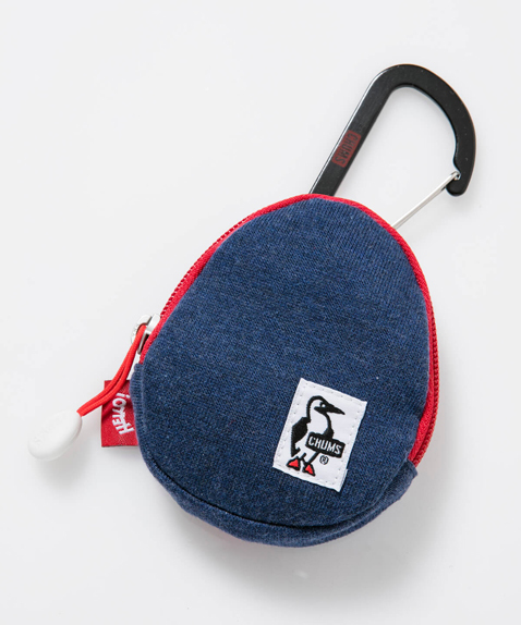 CHUMS(チャムス) Egg Coin Case Sweat (エッグコインケース) H-Navy/Red (ヘザーネイビー/レッド) CH60-2187