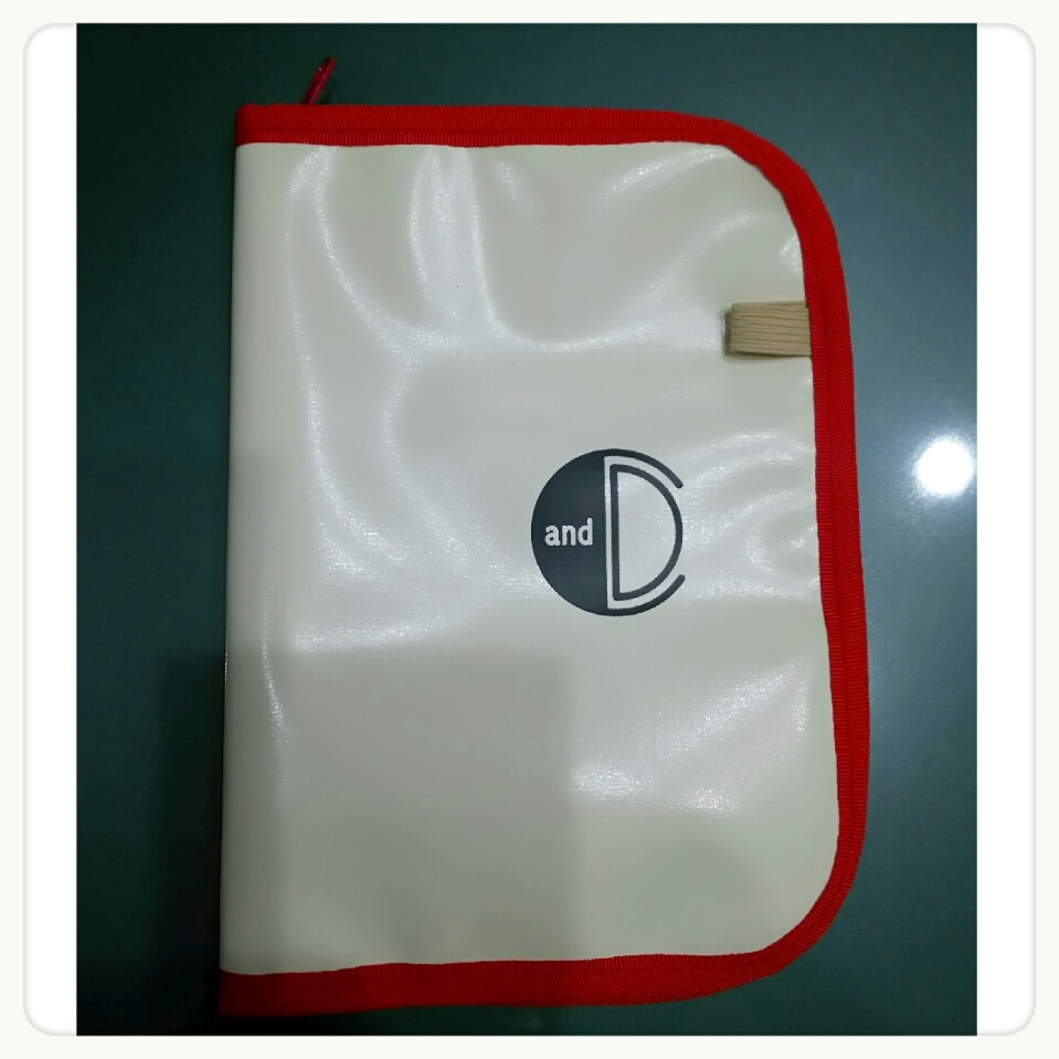 daily&carry BOOK&NOTE COVER IVORY✖RED