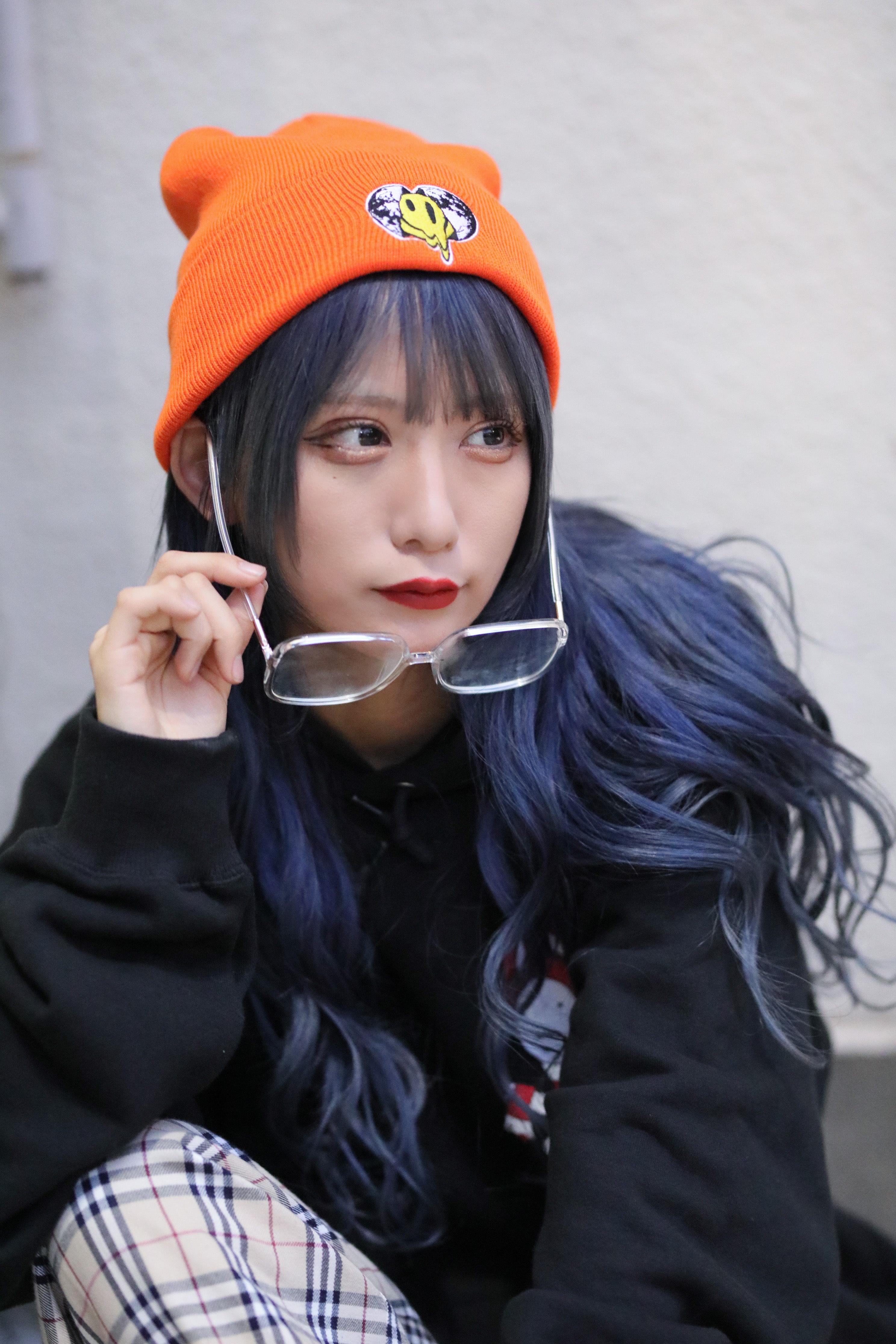 Smile刺繍 ニット帽