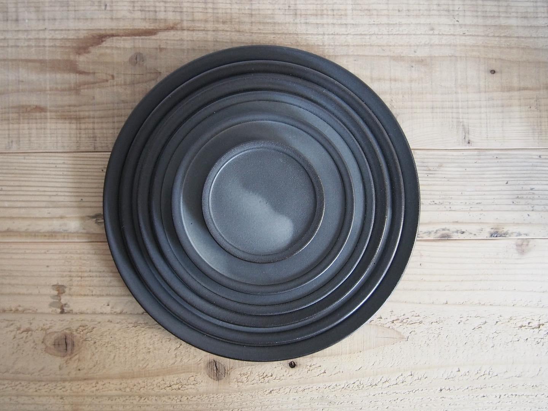 3RD CERAMICS|黒泥皿 3寸