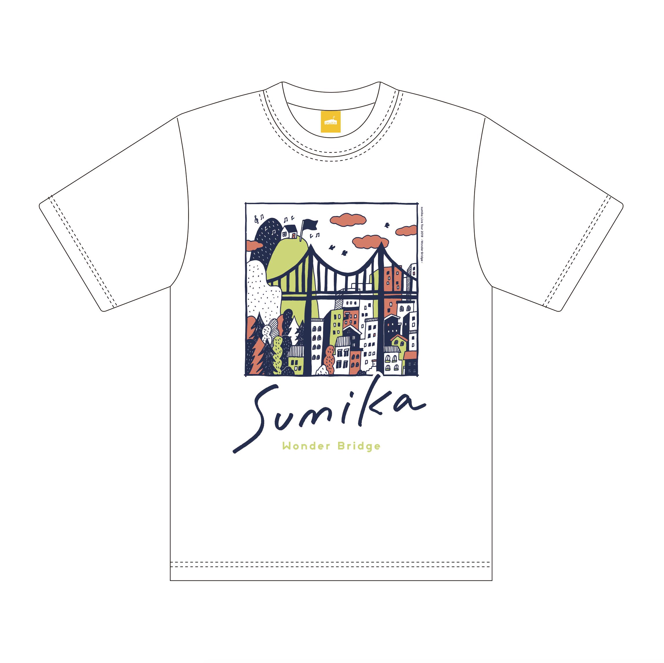 sumika / Wonder Bridge Tシャツ(ホワイト)