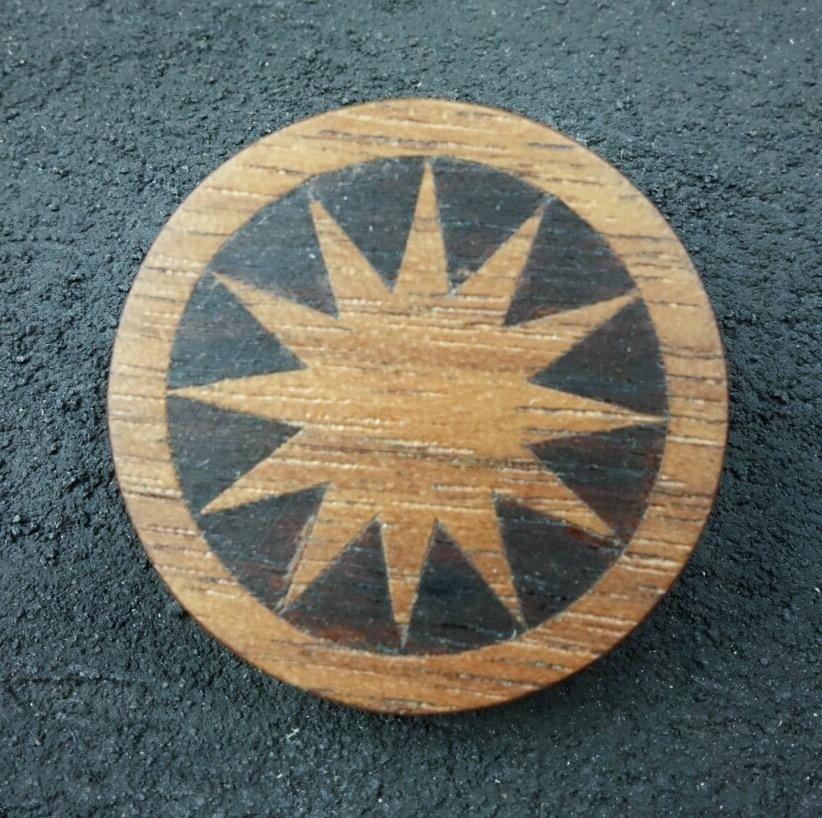 wooden inlaid charm IB-037-WT