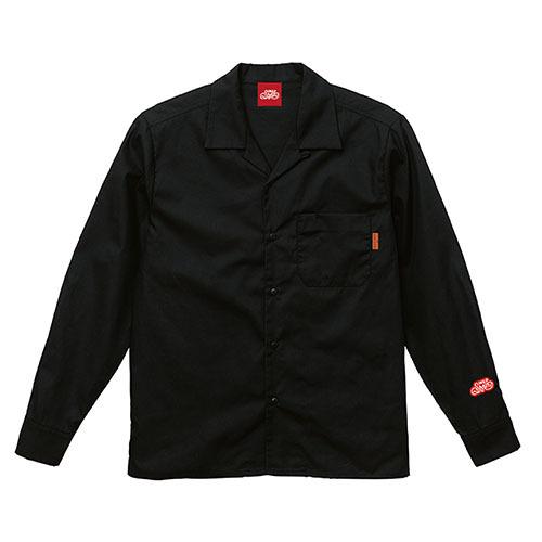 オープンカラーシャツ 長袖 / ブラック | SINE METU - シネメトゥ