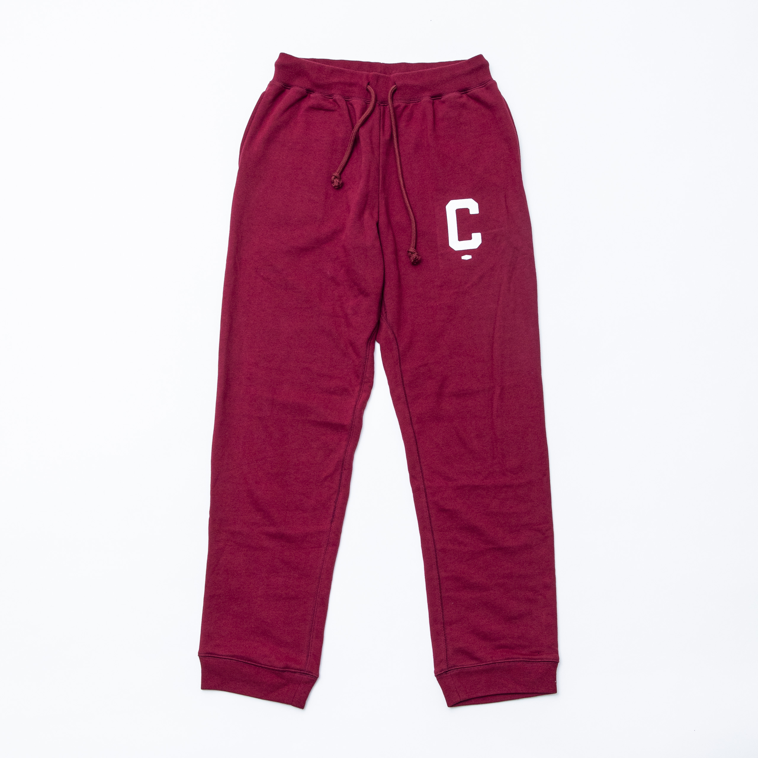 Big C Sweat pants  BURGUNDY