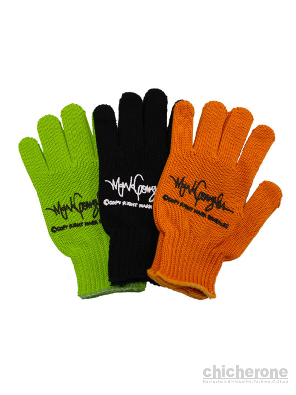 【MARK GONZALES】Work gloves BLACK / GREEN / ORENGE