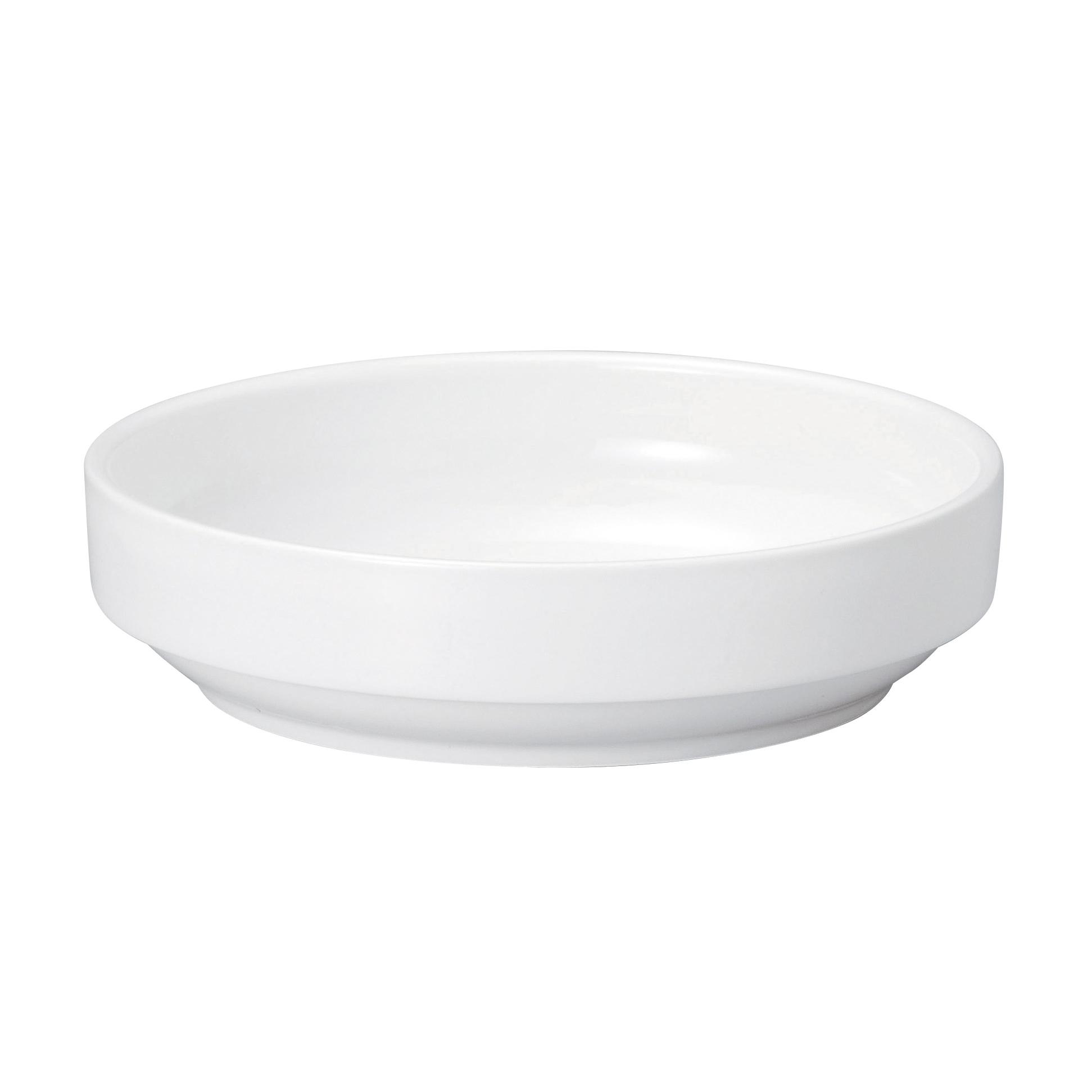 強化磁器 すくいやすいお皿(大)17cm  白無地  【1715-0000】