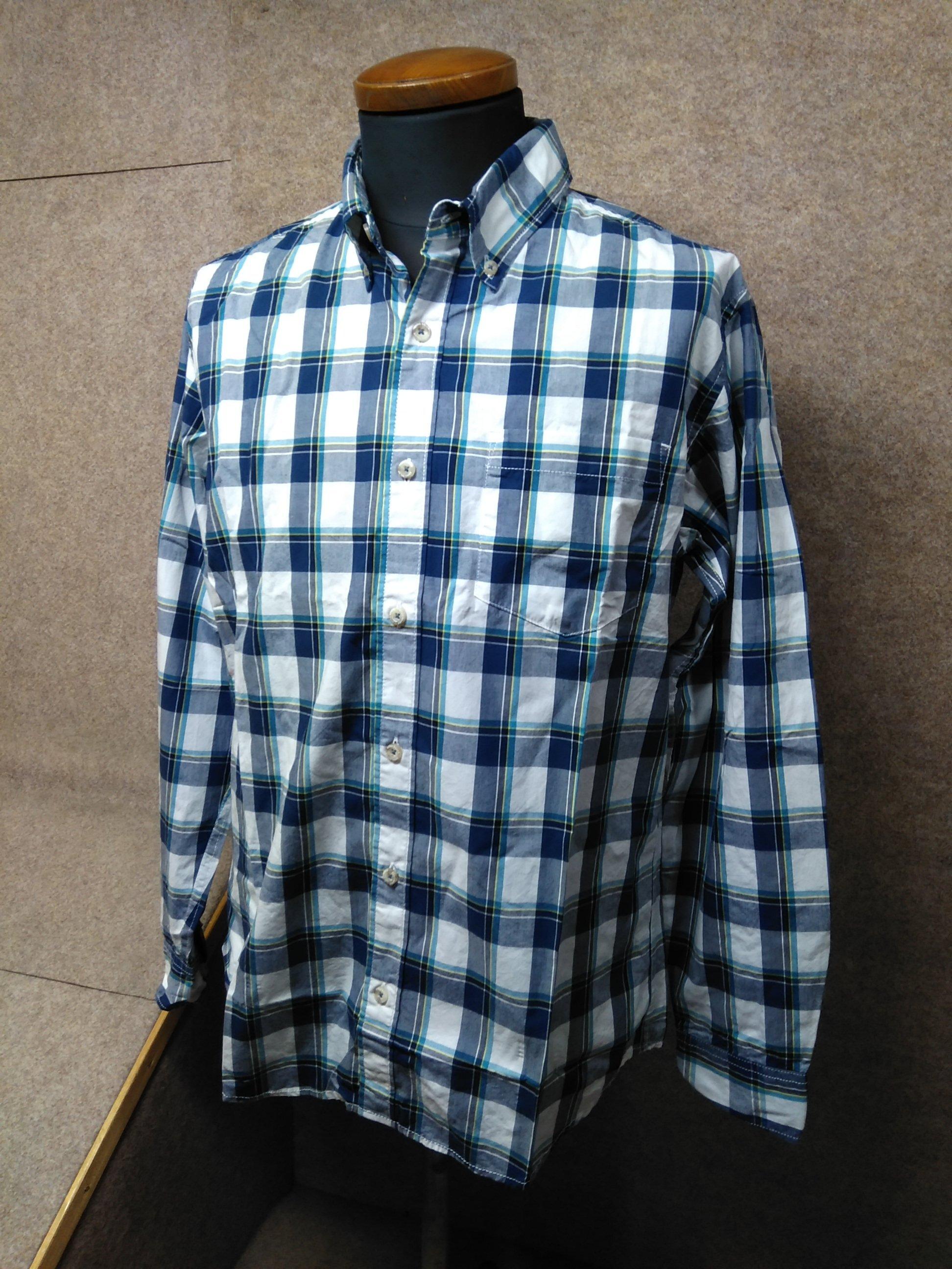 エディーバウアー メンズ ボタンダウンシャツ S ネイビー系 my990c