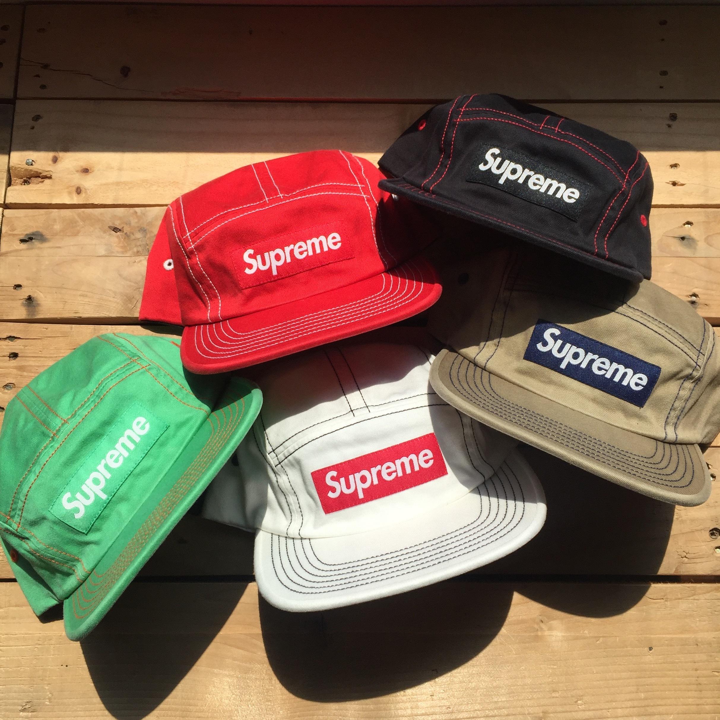 Supreme Contrast Stitch Camp Cap