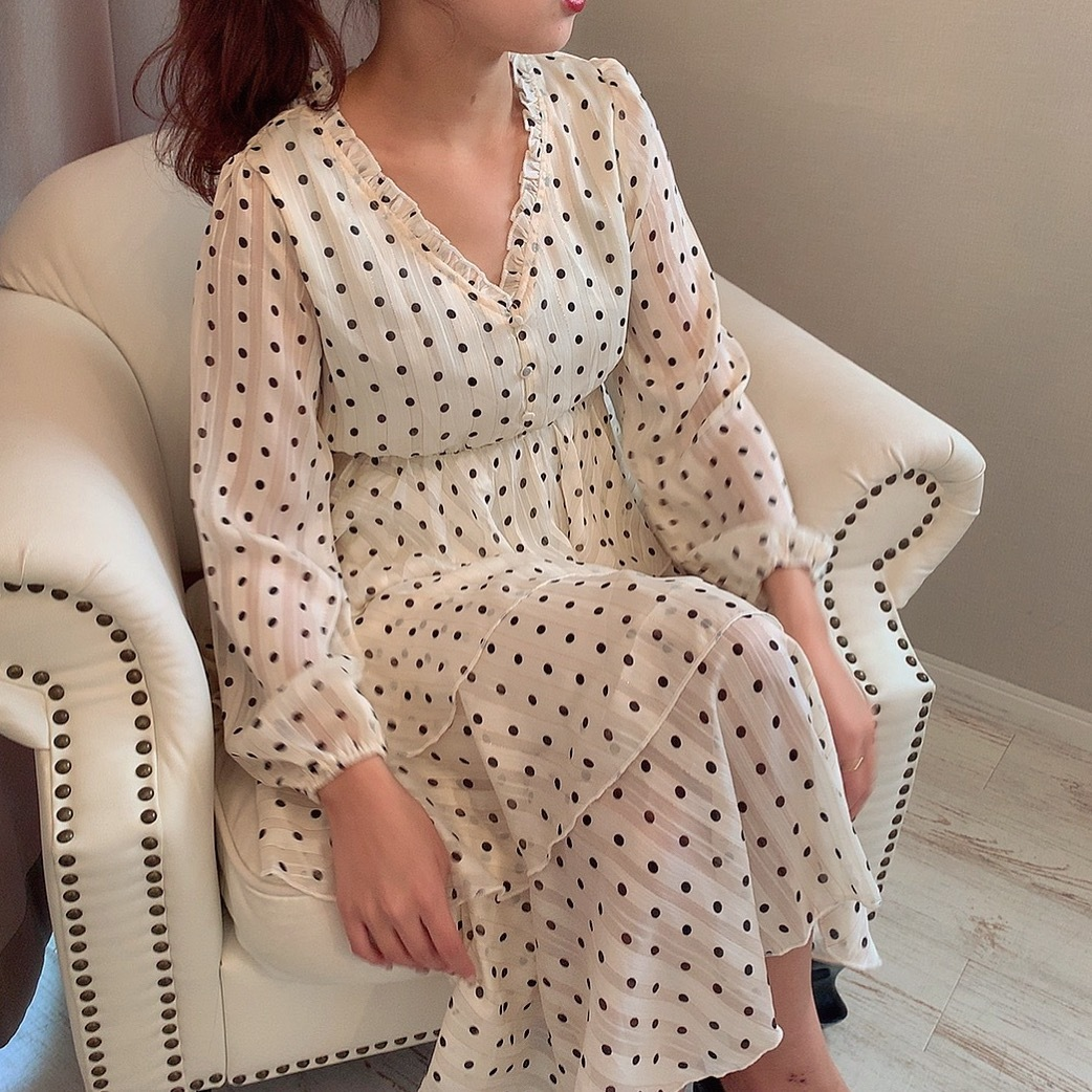 dot tiered one-piece