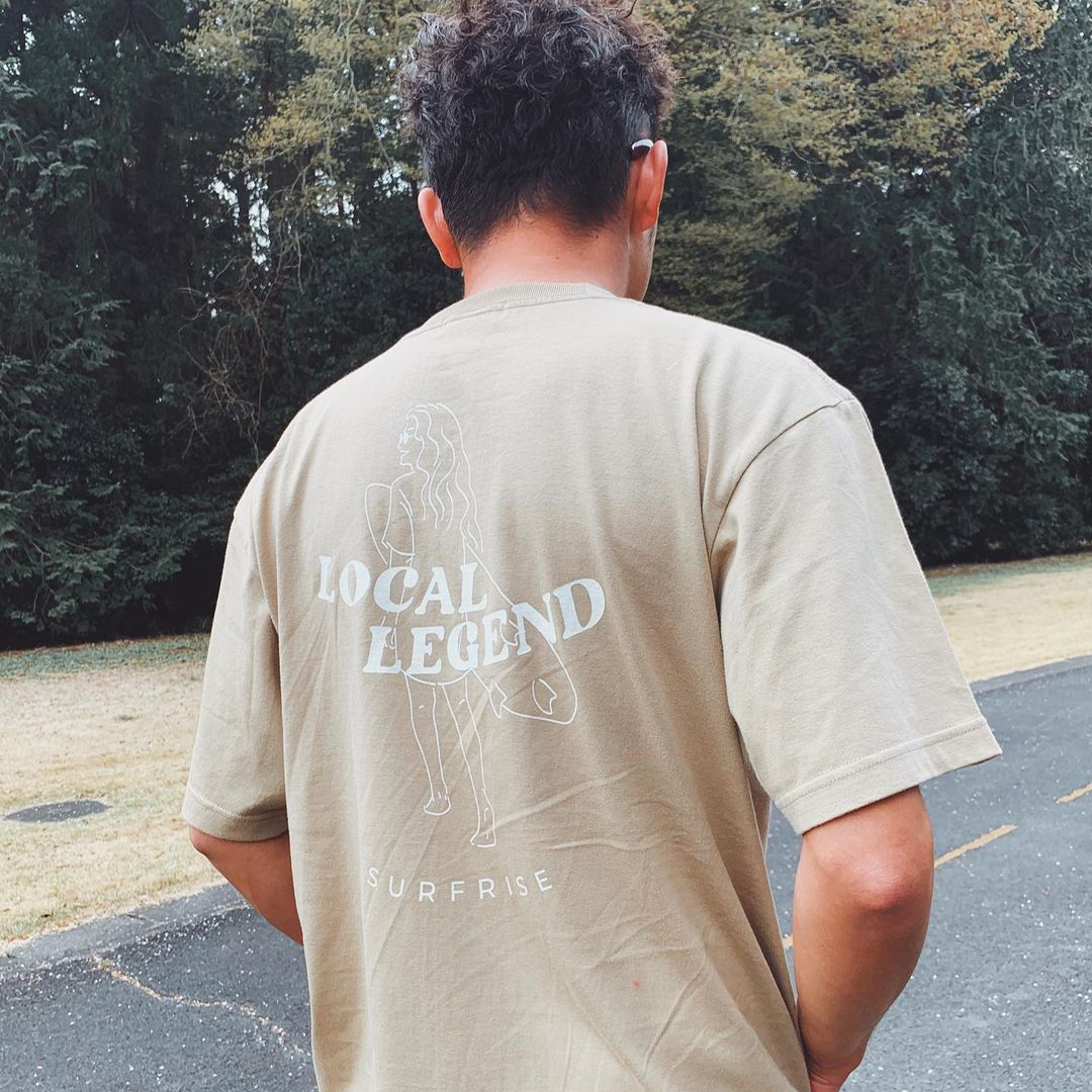 LOCAL LEGEND Tee - Sand khaki