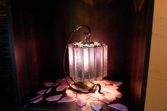 星吊り台(ステンドグラスのテーブルランプ)  01020104