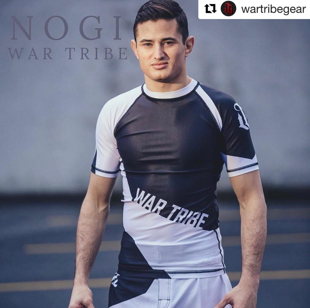 WAR TRIBE GEAR  FOCUS ラッシュガード 半袖 ホワイト/ブラック