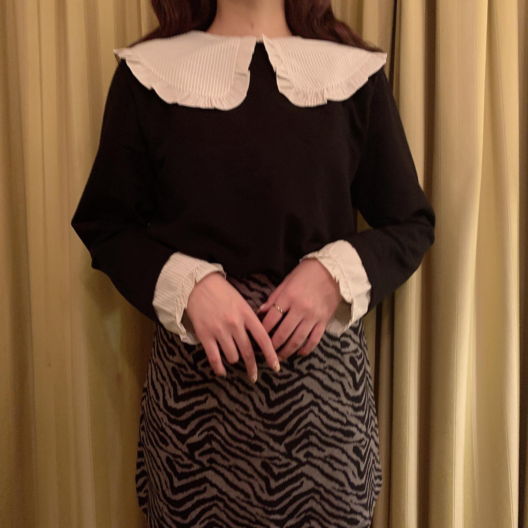 1/8 NEW stripe collar tops