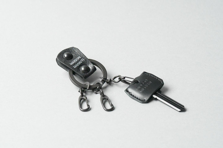 KEY RING・CAP ■B・B■_本革真鍮キーリング・キーキャップセット_ - 画像1