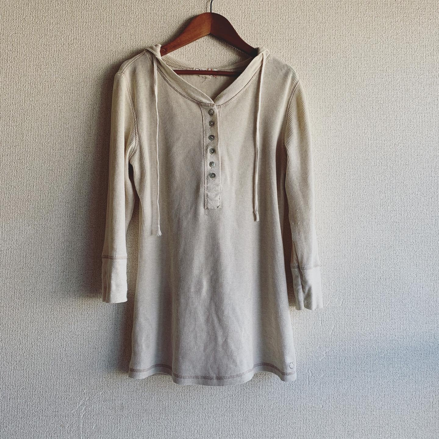 【SALE】vintage shell button thermal tops