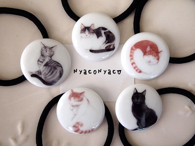 ★チャリティー 猫のヘアゴム ※保護猫活動に寄付します