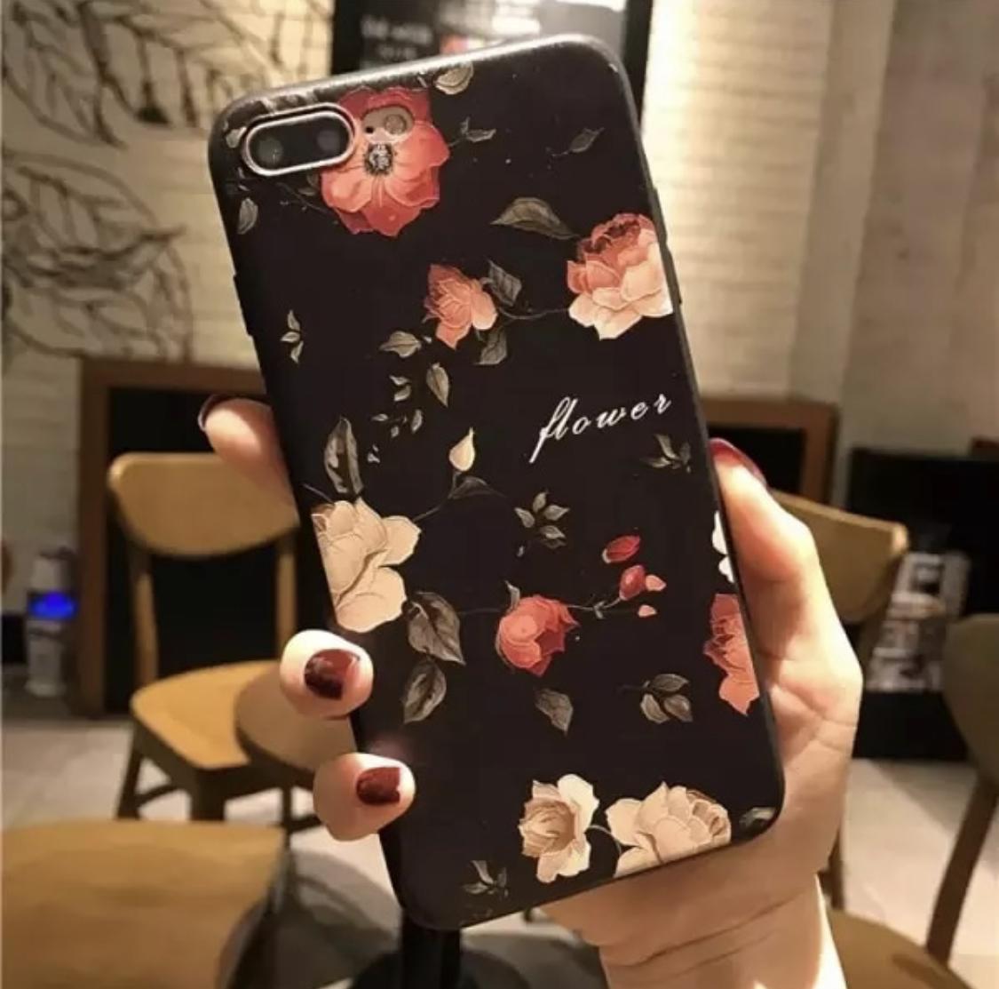 01906879a0 フラワーiPhoneケース 花柄 立体エンボス加工 ☆iPhone6/6s/6,6sPlus/7 ...
