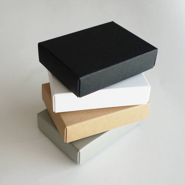 アクセサリー用箱 3個セット フタ・身箱タイプ 台紙付き