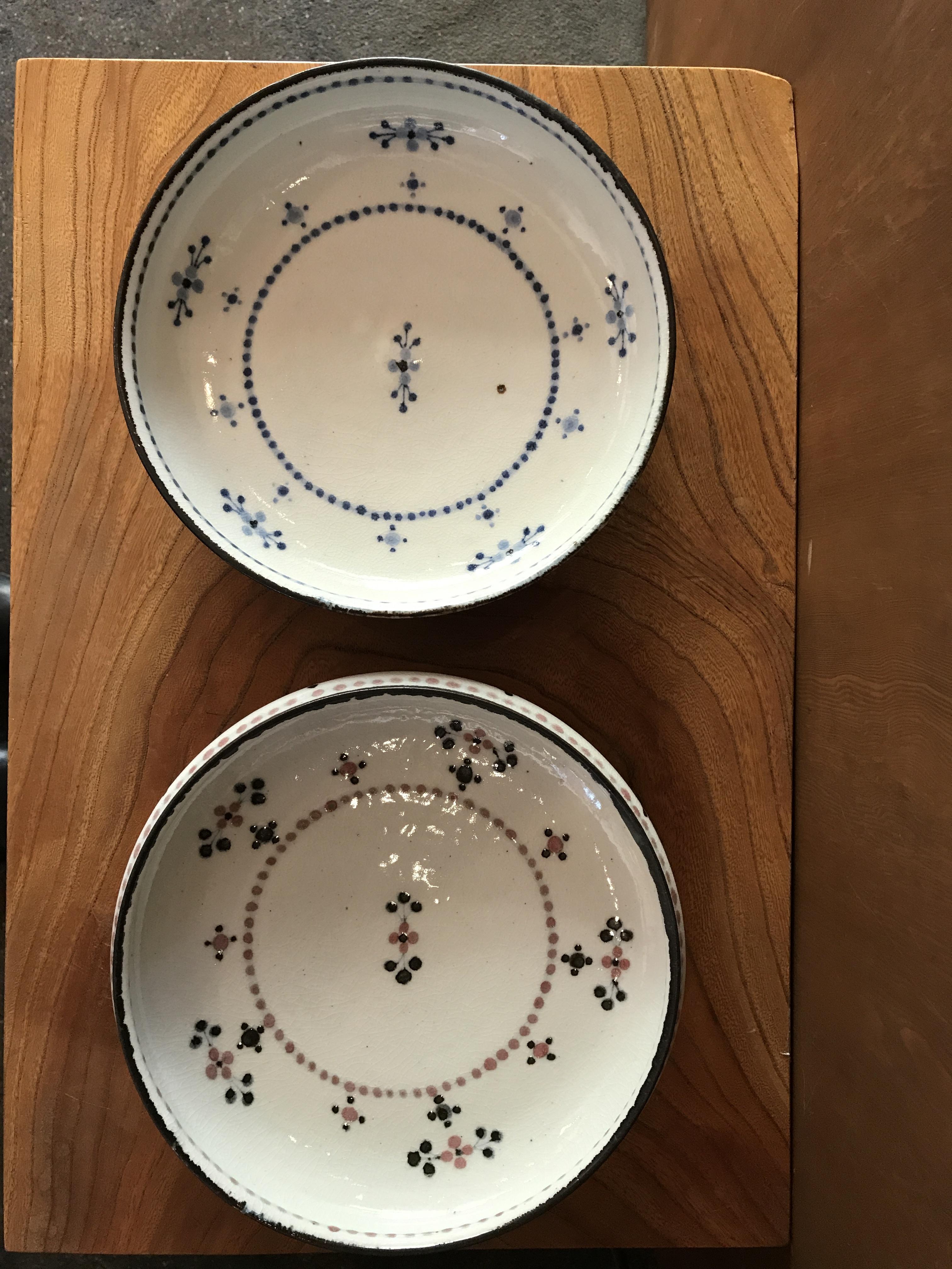 砥部焼  陶彩窯  小花文のお皿