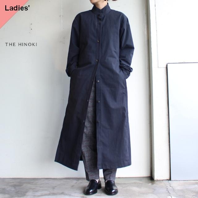 THE HINOKI コットン馬布スタンドアップカラーシャツドレス TH19W-14 ブラック