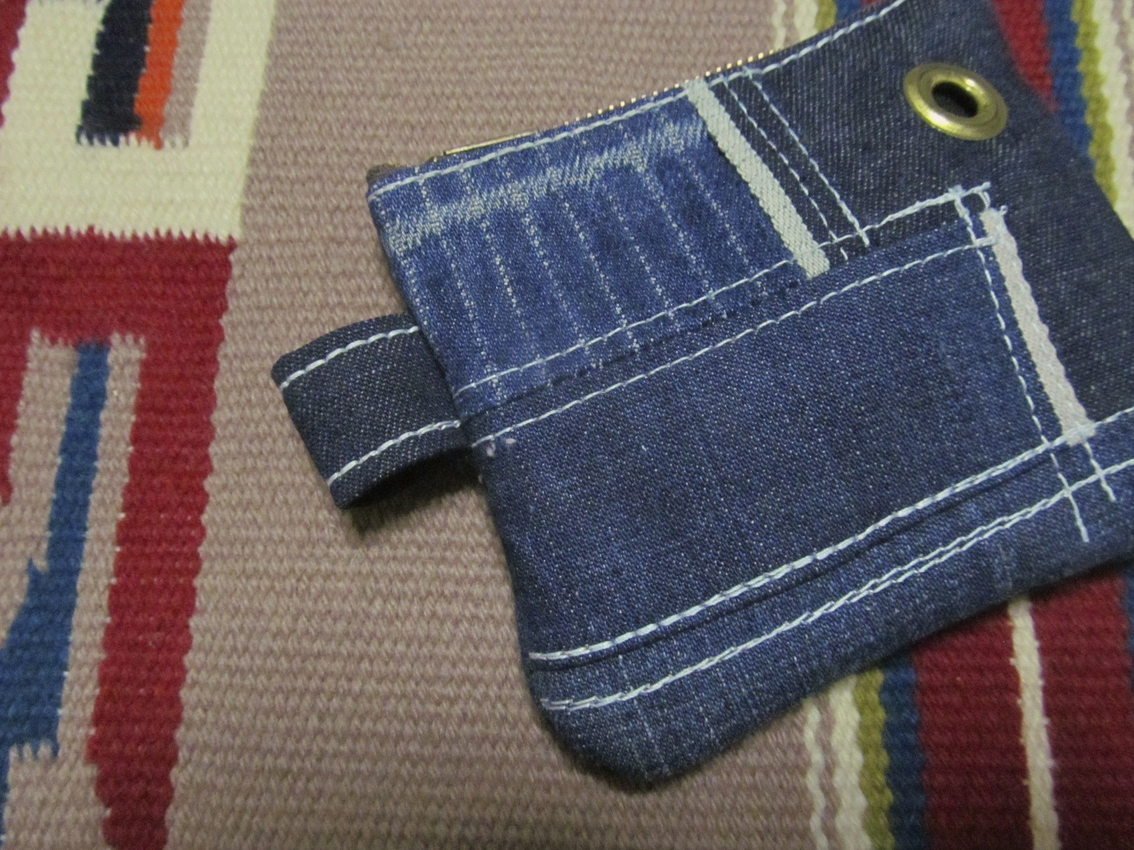 DENIM PATCHWORK COIN/PASS CASE