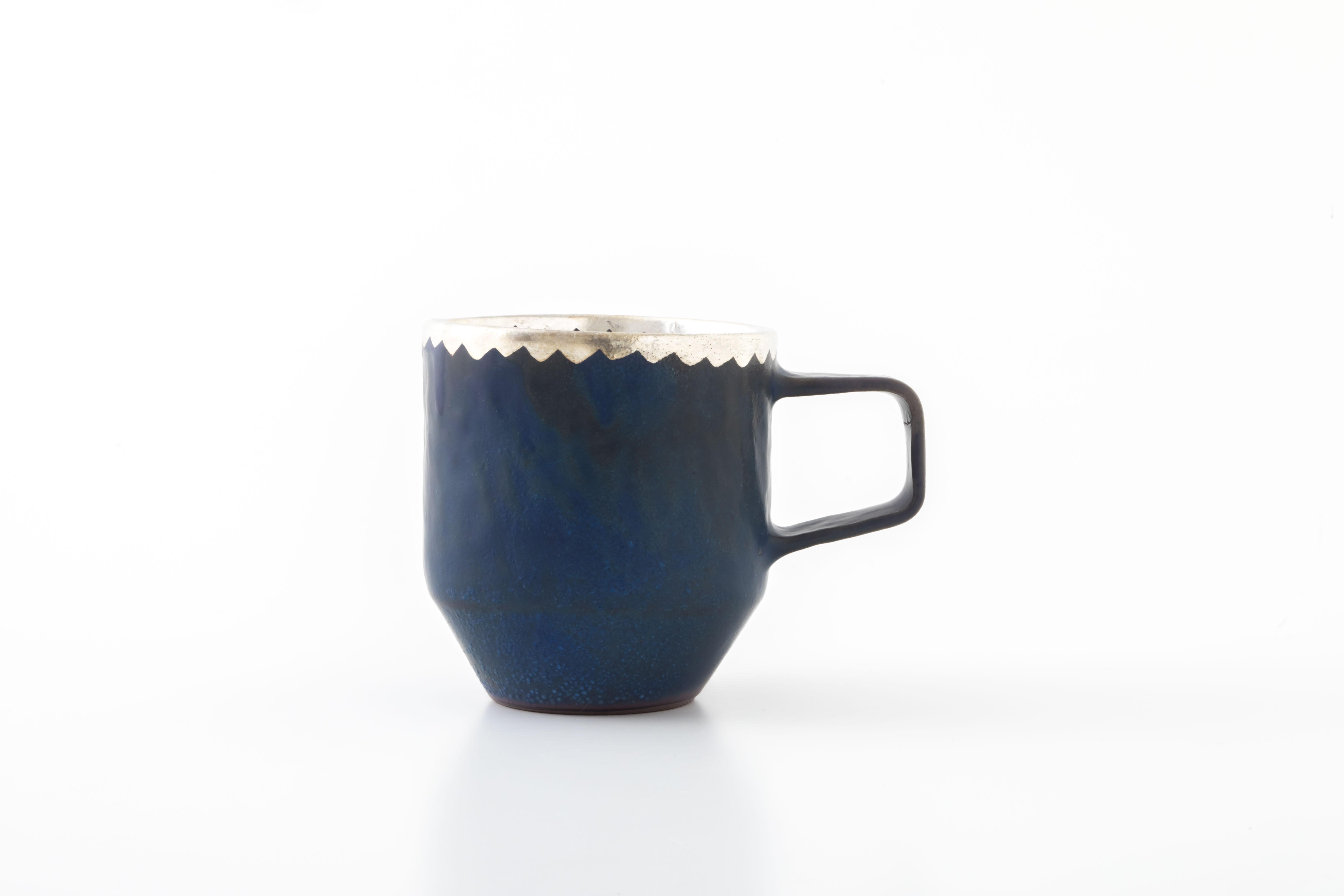 stacking mug:銀縁波(01-3) / holk store × 中囿義光