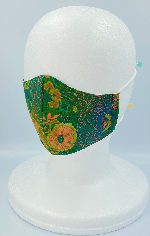 リメイク着物マスク A022