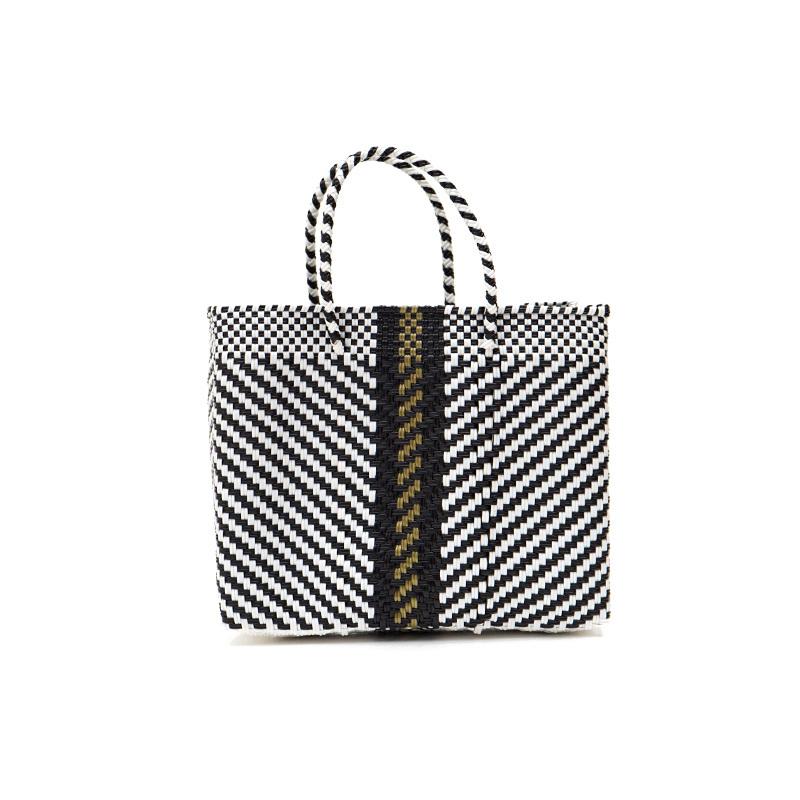 MERCADO BAG ESPIGA GOLD LINE- Black (XS)