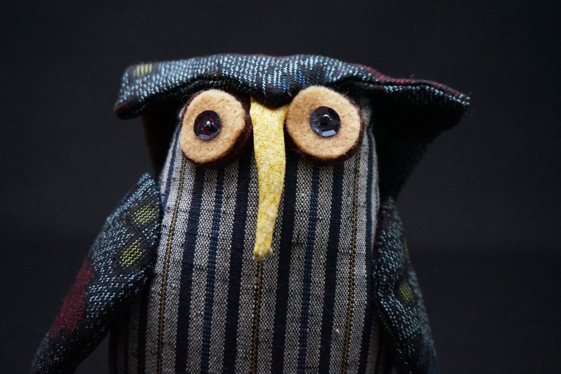 着物、和服の古布人形・縁起物「ふくろう」2 - 画像4