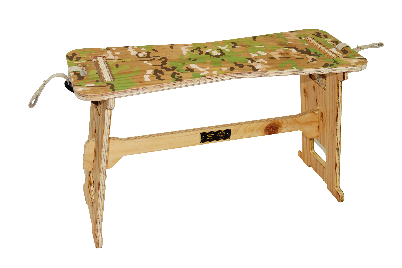 CAMPOOPARTS BONE TABLE ボーンサイドテーブルカラーマルチカム「オイル仕上げ」plywood「組立式」