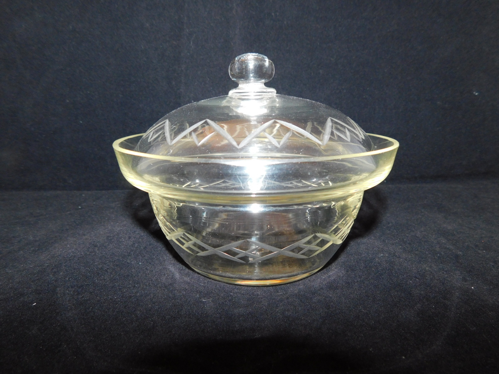 硝子蓋物 oil glass bowl and cover(made in Japan)