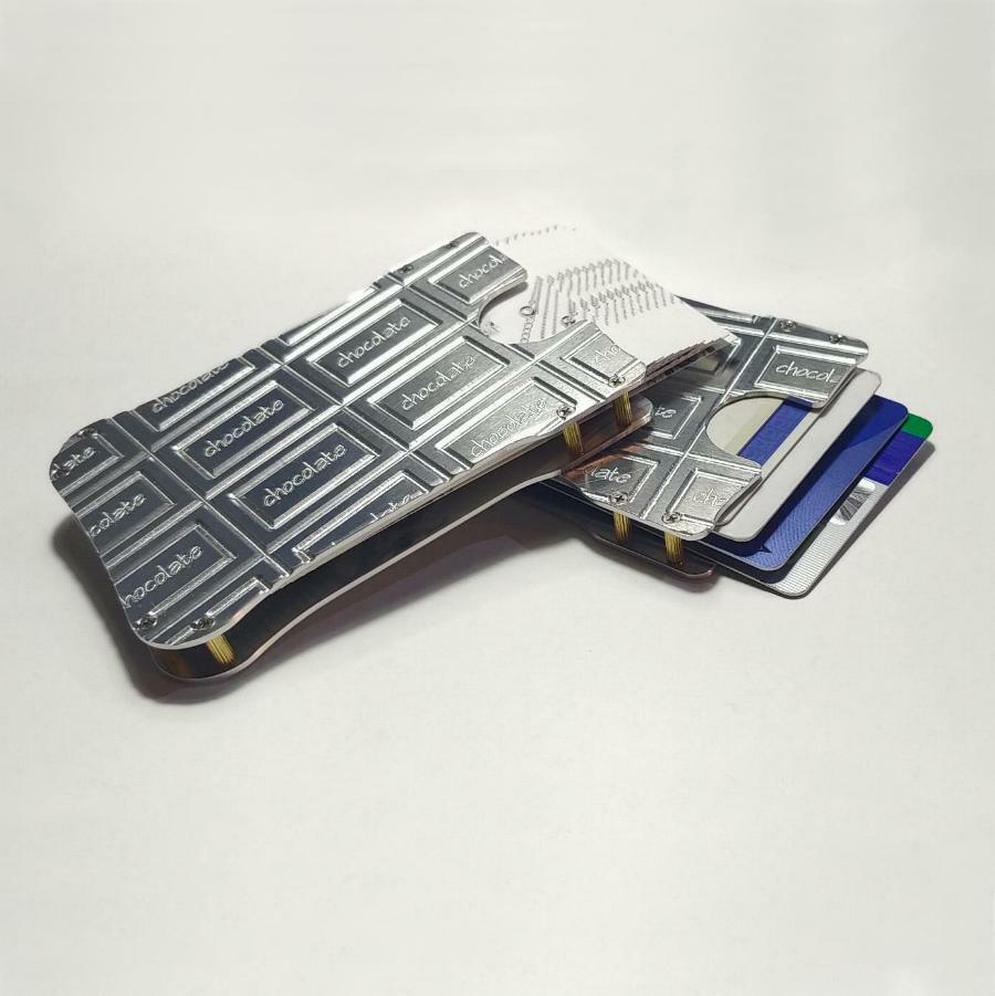 【チョコレート名刺入れ・カードケース】 ジュラルミン製 / プレゼントにもおしゃれ