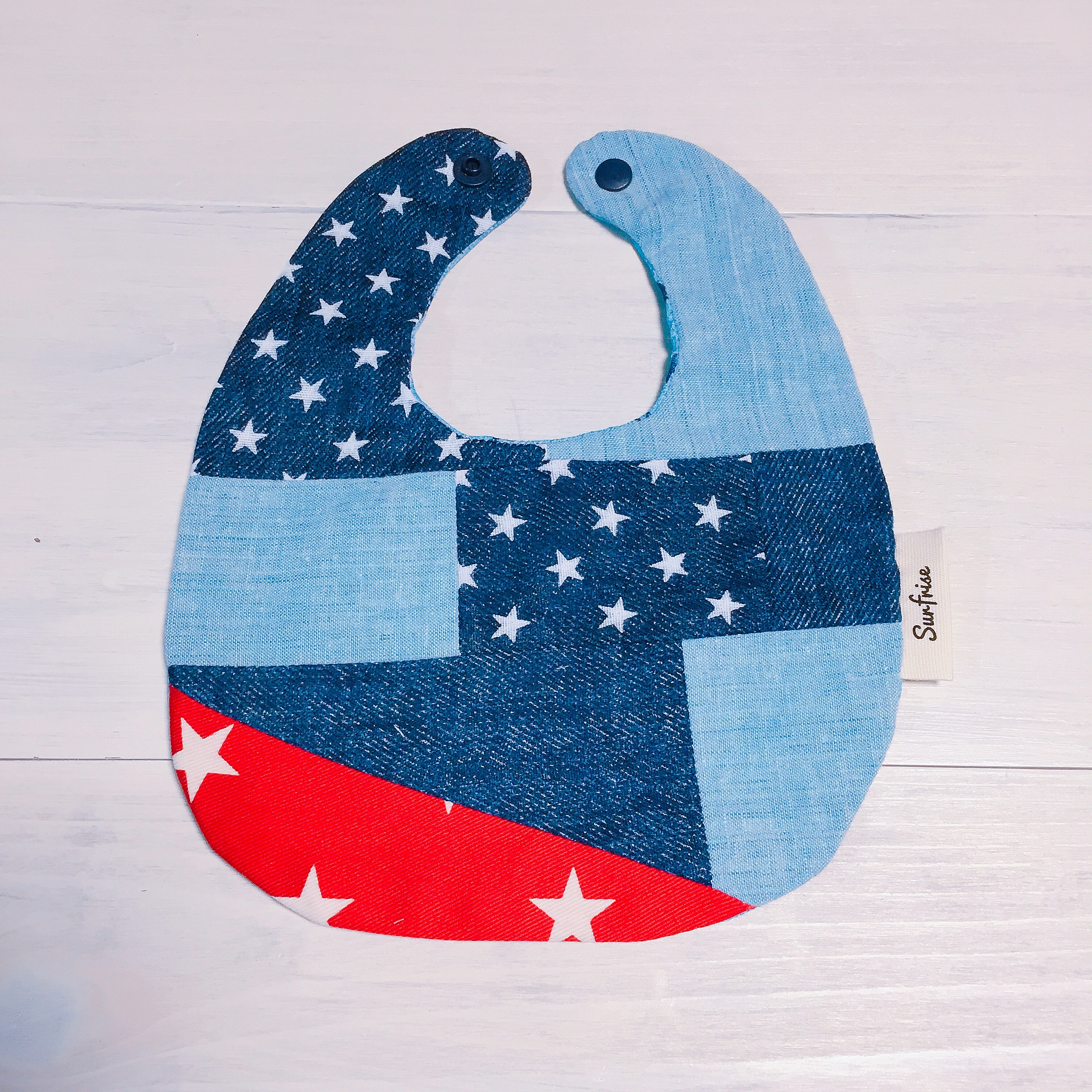 Denim baby bib E4