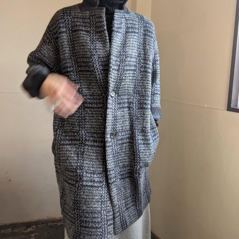 【 FANEUIL 】ファヌル / テーラーロングジャケットコート /  ジャガード織り