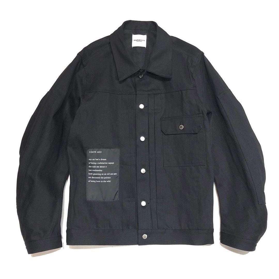 sj.0041AW19 balloon sleeve jean jacket.
