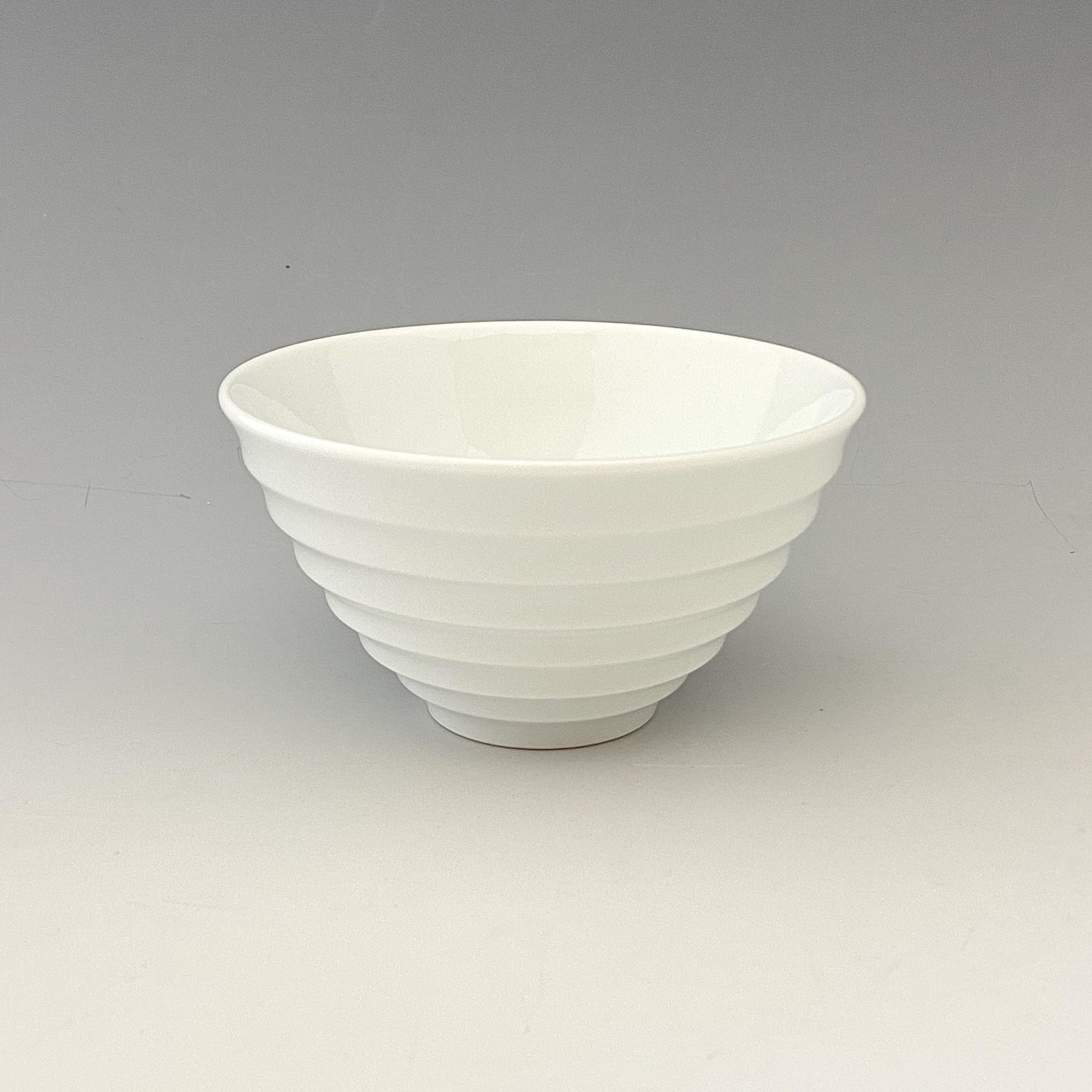 【中尾純】白磁線段碗(小)