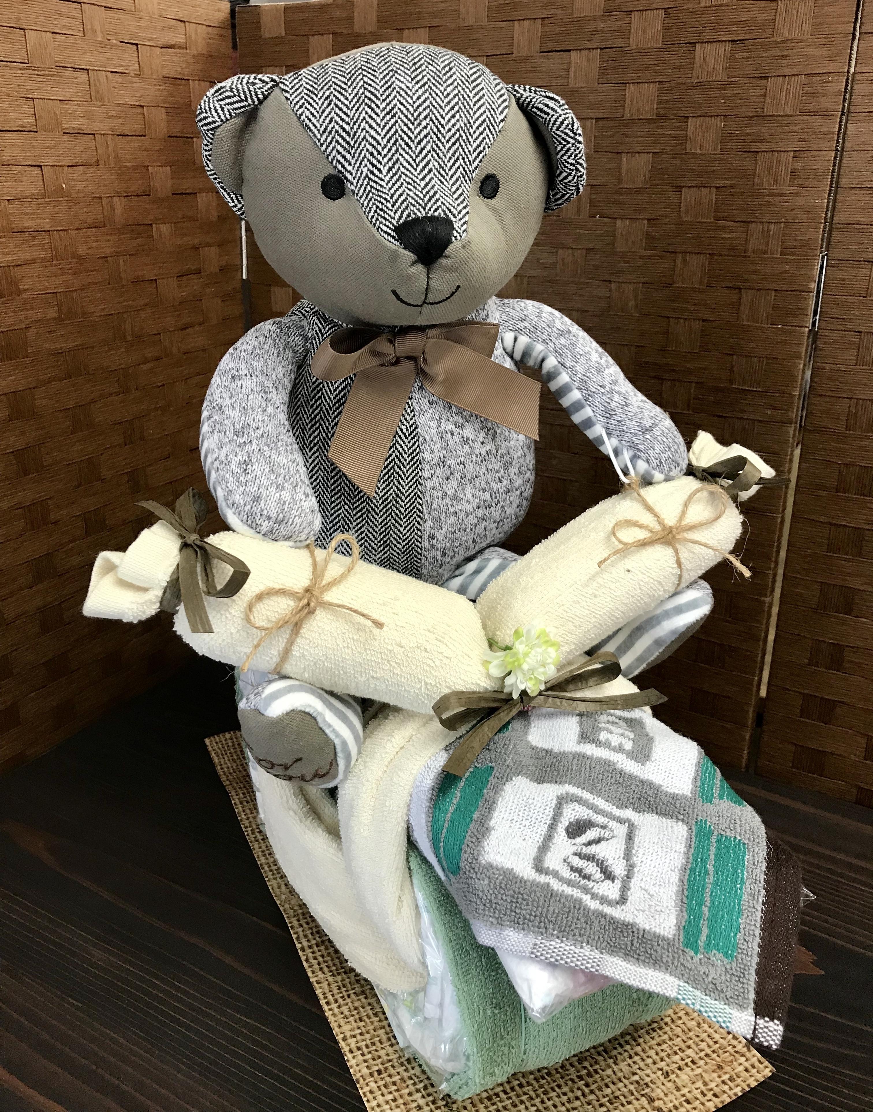 くまさん おむつバイク(マロン)  おむつケーキ  出産祝い ギフト オシャレ 個性的  かわいい  キャラクター