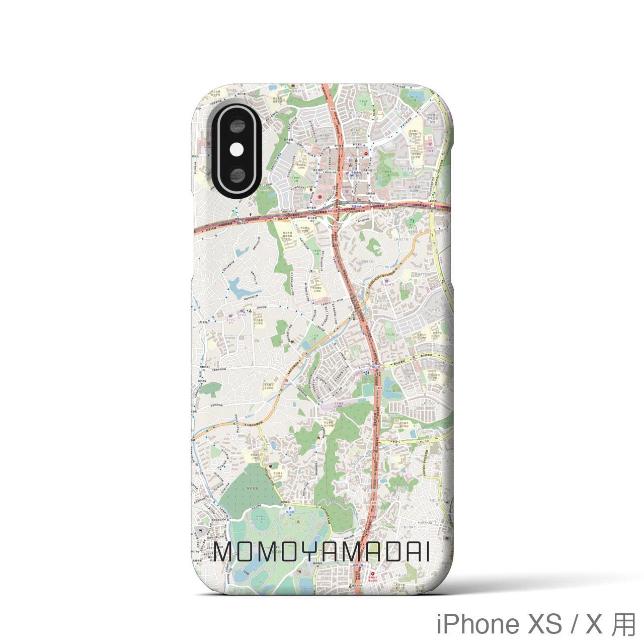 【桃山台】地図柄iPhoneケース(バックカバータイプ・ナチュラル)