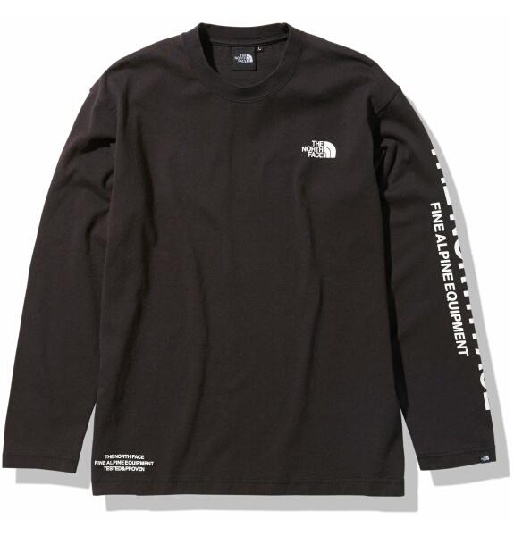 ノースフェイス ロンT 長袖 Tシャツ メンズ THE NORTH FACE ロングスリーブテステッドプルーブンティー NT82032 ブラック