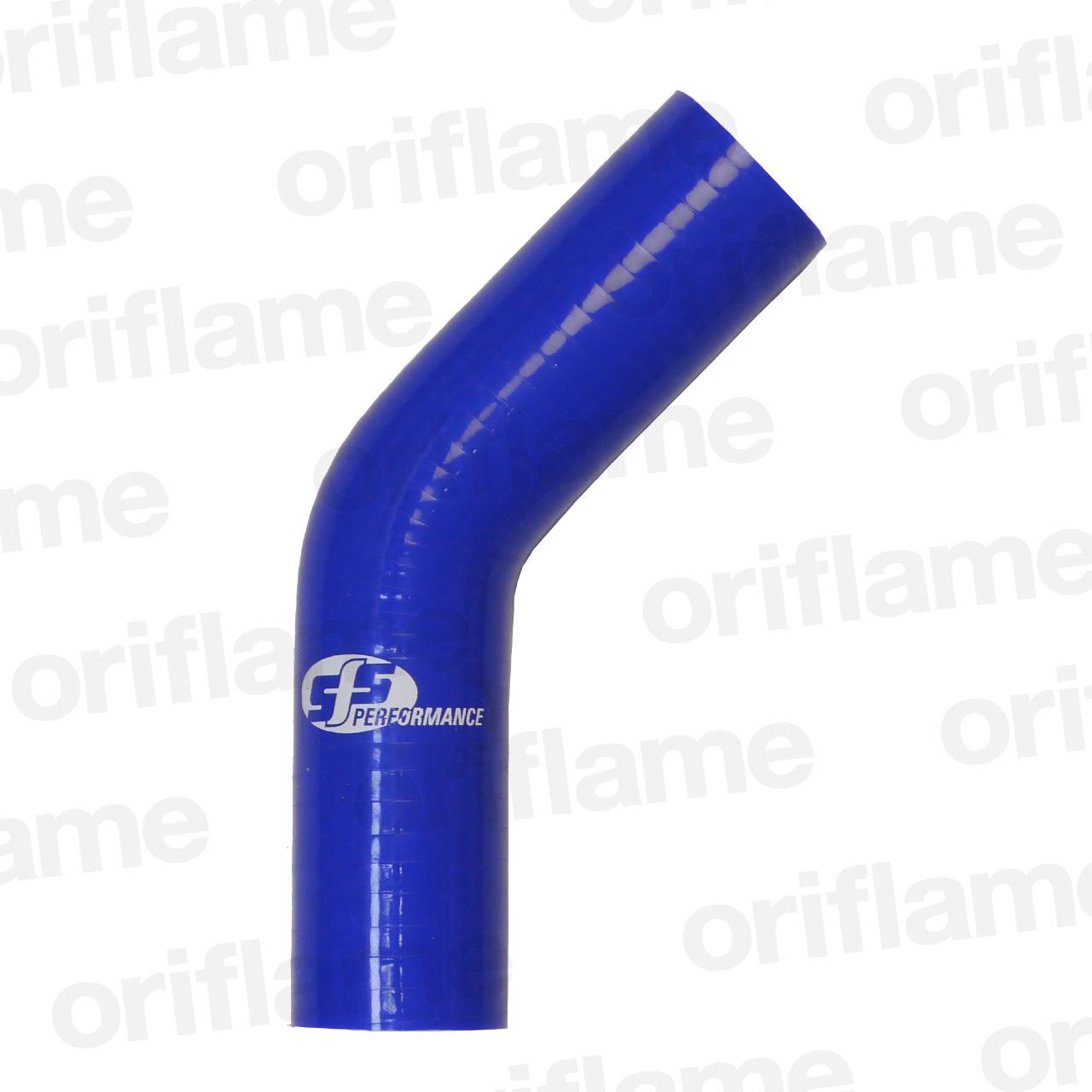 45度・エルボーホース・内径35mm・ブルー