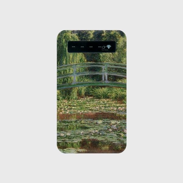 モネ「ジヴェルニーの日本の橋と睡蓮の池 1899」 モバイルバッテリー