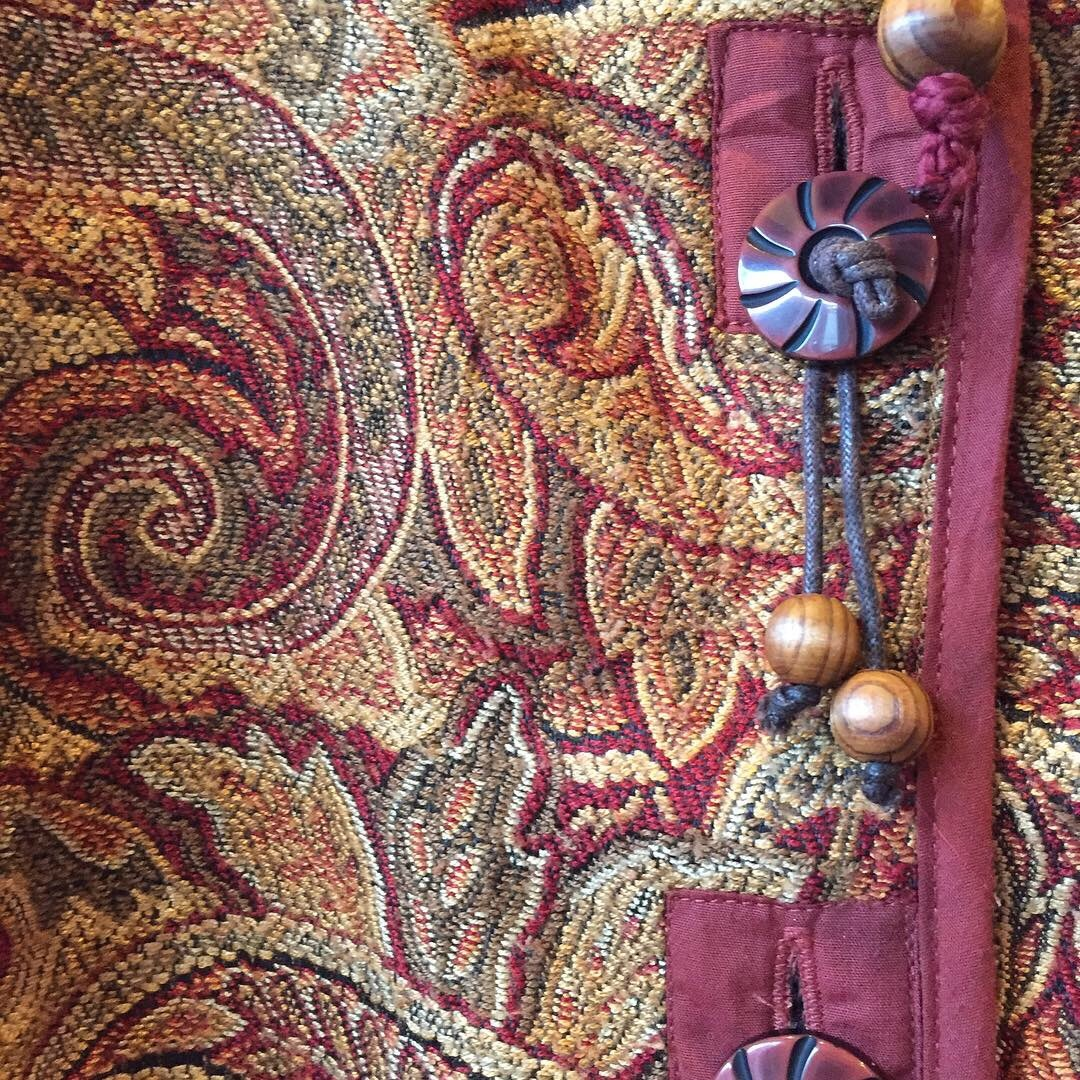 vintage tapestry paisley tops