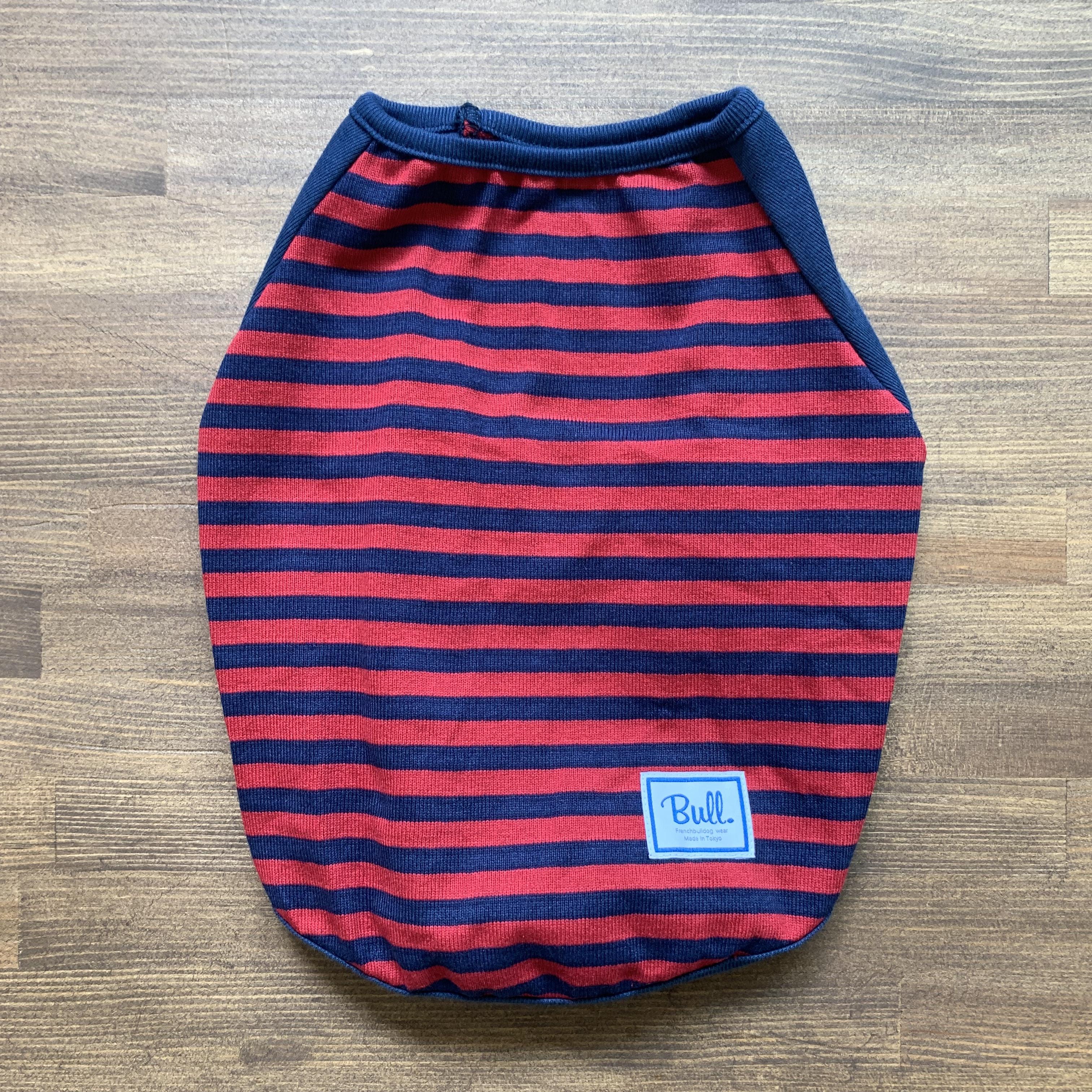 Bull.ベーシックボーダーTシャツ(カットソー)赤×紺
