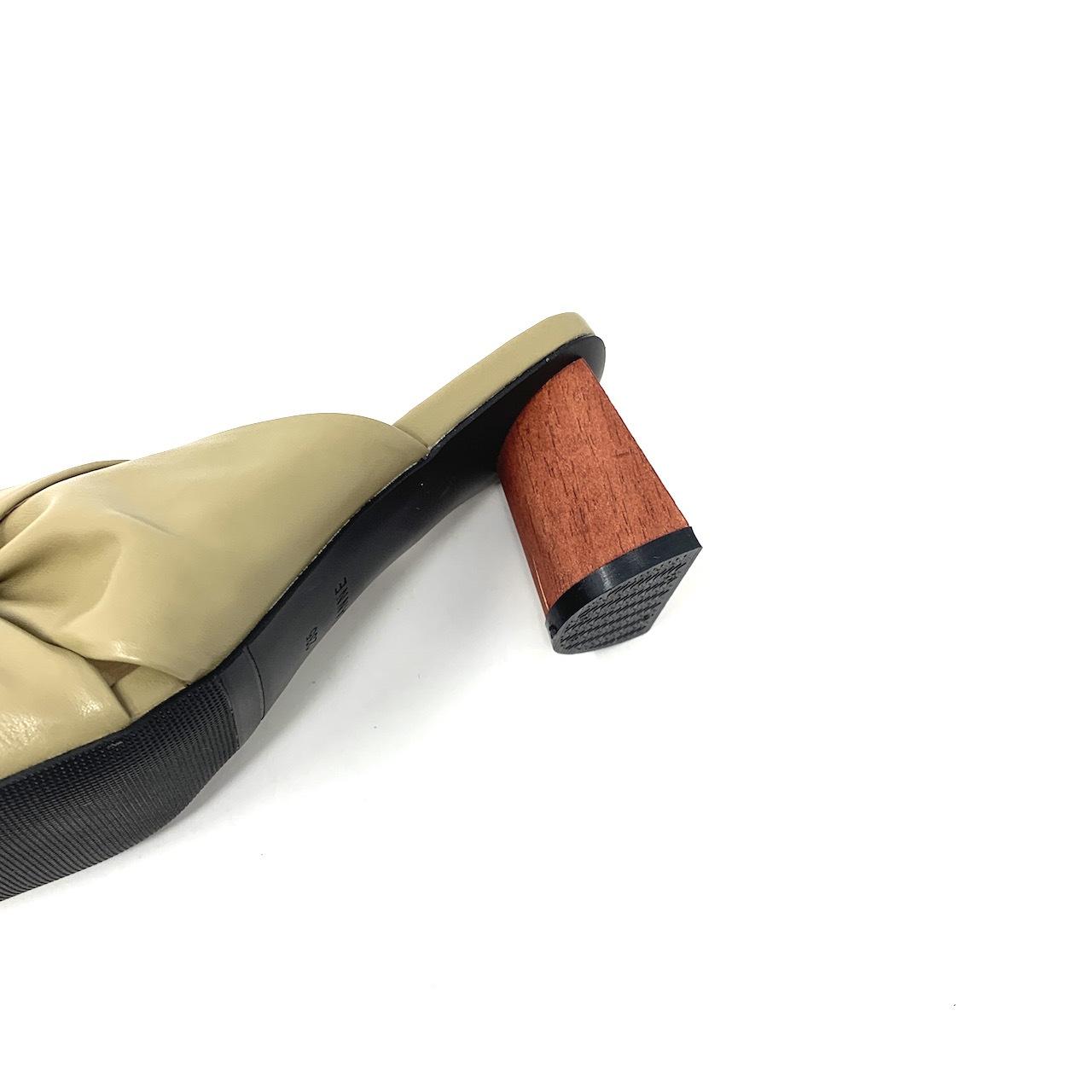 Wood heel Turban sandals   ウッドヒールターバンサンダル #kr0019