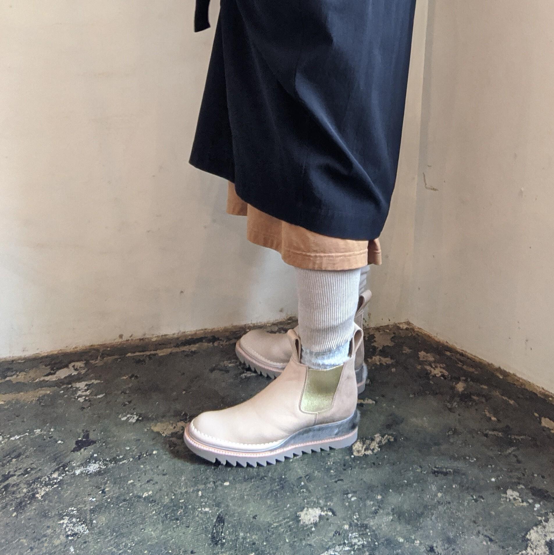☆23.5cm【 JUCO. 】ジュコ  灯台ライトブーツ Beige Ladies / サイドゴアブーツ